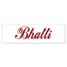 Bhatti name Sticker (Bumper)