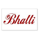 Bhatti name Sticker (Rectangle)