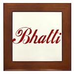 Bhatti name Framed Tile