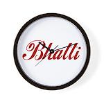 Bhatti name Wall Clock