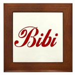 Bibi name Framed Tile