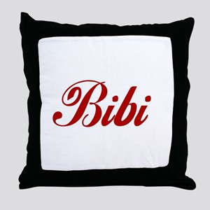 Bibi name Throw Pillow
