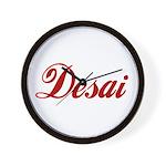 Desai name Wall Clock