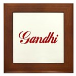 Gandhi name Framed Tile