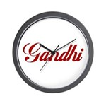 Gandhi name Wall Clock