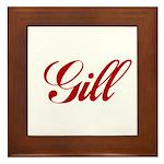 Gill name Framed Tile