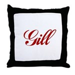 Gill name Throw Pillow