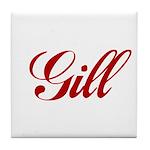 Gill name Tile Coaster