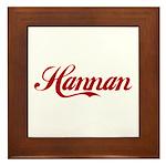 Hannan name Framed Tile