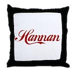 Hannan name Throw Pillow