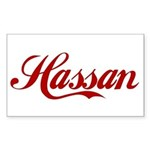 Hassan name Sticker (Rectangle)