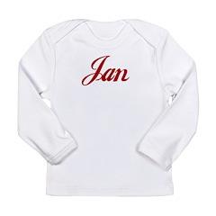 Jan name Long Sleeve Infant T-Shirt