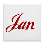 Jan name Tile Coaster