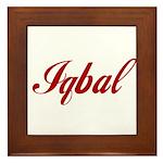 Iqbal name Framed Tile