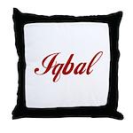 Iqbal name Throw Pillow