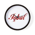Iqbal name Wall Clock
