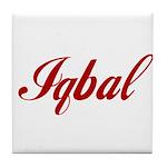 Iqbal name Tile Coaster