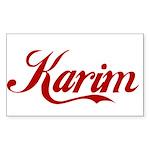 Karim name Sticker (Rectangle)