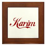 Karim name Framed Tile