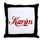 Karim name Throw Pillow