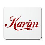 Karim name Mousepad