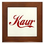 Kaur name Framed Tile
