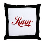 Kaur name Throw Pillow