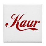 Kaur name Tile Coaster