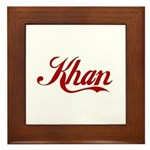 Khan name Framed Tile