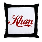 Khan name Throw Pillow
