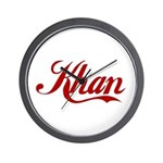 Khan name Wall Clock