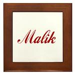Malik name Framed Tile