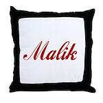 Malik name Throw Pillow