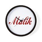 Malik name Wall Clock