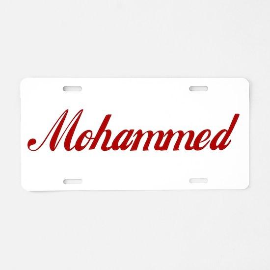 Mohammed name Aluminum License Plate
