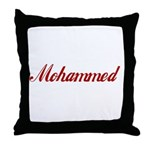 Mohammed name Throw Pillow