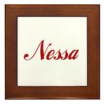 Nessa name Framed Tile