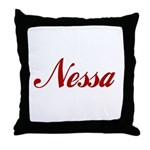 Nessa name Throw Pillow