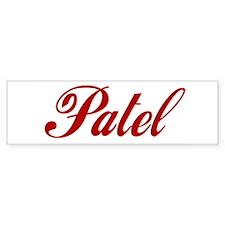 Patel name Sticker (Bumper)