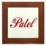 Patel name Framed Tile