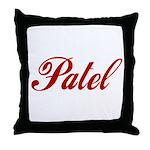 Patel name Throw Pillow