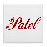 Patel name Tile Coaster
