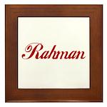Rahman name Framed Tile