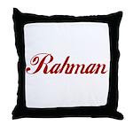 Rahman name Throw Pillow