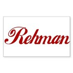 Rehman name Sticker (Rectangle)