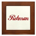 Rehman name Framed Tile