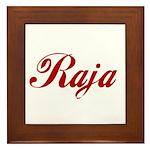 Raja name Framed Tile