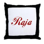 Raja name Throw Pillow