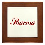 Sharrma name Framed Tile