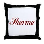 Sharrma name Throw Pillow